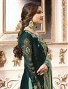 photo of Jasmin Bhasin Dark Green Designer Function Wear Embroidered Sharara Dress In Georgette