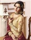 photo of Jasmin Bhasin Function Wear Georgette Beige Sharara Suit With Embroidery Work