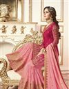 photo of Jasmin Bhasin Designer Function Wear Pink Embroidered Sharara Suit In Georgette