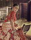 photo of Designer Beige Color Traditional Embroidered 3 Piece Lehenga Choli