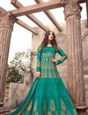 image of Sonal Chauhan Floor Length Anarkali Dress in Art Silk