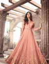 image of Sonal Chauhan Peach Floor Length Anarkali Dress
