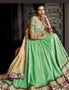 photo of Green Color Banarasi Silk And Jacquard Wedding Bridal Embroidered Lehenga