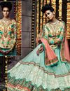 photo of Sky Blue Color Wedding Wear Embroidered Lehenga Choli In Net Fabric
