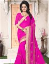 image of Georgette Designer Embellished Saree With Blouse