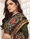 photo of Art Silk Fabric Designer Embroidered Saree In Light Brown With Attractive Blouse