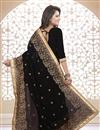 photo of Embroidered Designer Georgette Fabric Saree in Black Color
