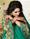 photo of Green Kashmiri Work Designer Georgette Saree
