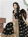picture of Alluring Georgette Embroidered Saree In Black Color