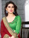 photo of Red Party Wear Saree with Border-273