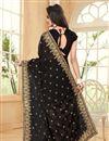 photo of Black Color Designer Embroidered Saree In Georgette Fabric