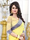 photo of Classic Yellow Color Jacquard Designer Saree