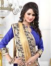 photo of Blue Color Lycra-Georgette Party Wear Designer Sar