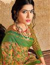 photo of Traditional Beige Color Banarasi Silk Style Pooja Function Saree