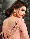 photo of Maroon Color Puja Wear Art Silk Fabric Fancy Embroidery Work Saree