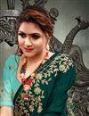 photo of Dark Green Color Festive Wear Fancy Satin Fabric Embroidery Work Saree
