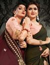 photo of Festive Wear Maroon Color Satin Silk Fabric Embroidery Work Saree