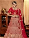 image of Embroidered Wedding Bridal Wear Fancy Lehenga Choli In Art Silk Fabric