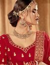 photo of Red Color Art Silk Fabric Reception Wear Lehenga Choli With Embroidery Work