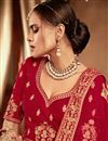 photo of Embroidered Red Color Art Silk Festive Wear Lehenga With Ambroidery