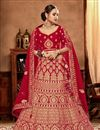 image of Wedding Bridal Wear Art Silk Fabric Fancy Designer Lehenga Choli