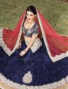 image of Navy Blue Net-Satin Lehenga Choli for Wedding-1392