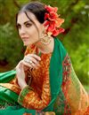 photo of Orange Cotton Pakistani Palazzo Salwar Kameez
