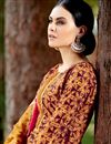 photo of Maroon Palazzo Style Cotton Pakistani Salwar Suit