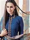 photo of Classic Blue Color Georgette Party Wear Suit