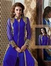 photo of Blue Color Semi-Stitched Georgette Salwar Suit with Embroidery