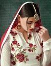 photo of White Color Soothing Georgette Suit