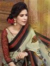 photo of Black Party Wear Digital Print Art Silk Saree