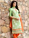 photo of Attractive Green Color Party Wear Salwar Suit