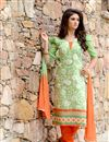 image of Attractive Green Color Party Wear Salwar Suit
