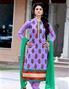 image of Attractive Purple Color Party Wear Salwar Suit