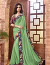 image of Green Georgette Party Wear Saree-15116