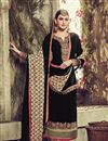photo of Black Color Long Length Embroidered Georgette Salwar Kameez