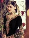 picture of Black Color Straight Cut Embroidered Georgette Salwar Kameez
