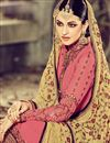 photo of Straight Cut Designer Georgette Salwar Kameez with Embroidery in Pink Color
