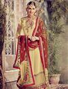 image of Cream Color Long Length Embroidered Georgette Salwar Kameez
