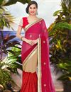 image of Jennifer Winget Designer Georgette And Net Saree
