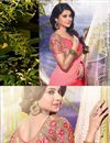 photo of Jennifer Winget Pink Color Embroidered Saree