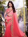 image of Jennifer Winget Pink Color Embroidered Saree
