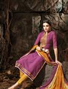 photo of Purple long Length Party Wear Cotton Salwar Suit