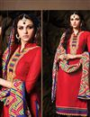 photo of Red Party Wear Chanderi Cotton Salwar Kameez