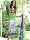 image of Fabulous Green Color Long Length Cotton Suit