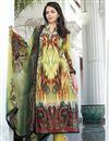 image of Fabulous Green Color Long Length Cotton Suit