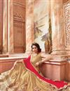 photo of Festive Wear Embroidered Silk 3 Piece Lehenga Choli In Beige Color