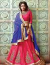 image of Pink Color Party Wear Designer Lehenga Choli With Satin Unstitched Blouse