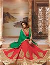 image of Designer Red Color 3 Piece Lehenga Choli With Embroidery In Silk Fabric